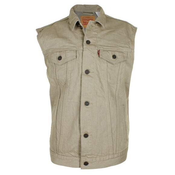 Levi's Other - Levi's Beige Men's Regular Fit Trucker Vest